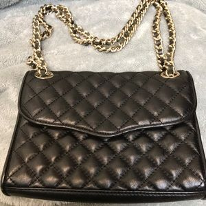 Rebecca Minkoff Black Mini Quilted Affair Bag